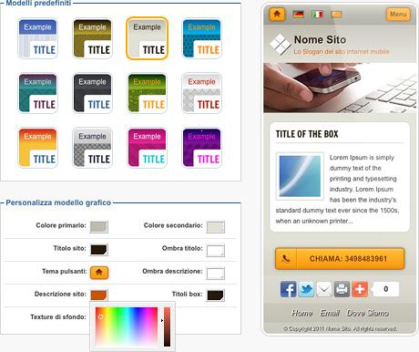 Siti mobile: crea i tuoi siti per cellulari - Sitonline